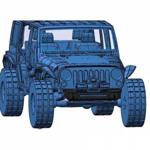 Jeep Bumpers - Hammerhead - Hammerhead Bumpers - Hammerhead 600-56-0701 Minimalist Front Bumper for Jeep Wrangler JK 2007-2017