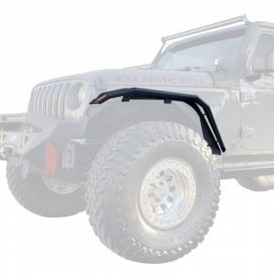 Shop Bumpers By Vehicle - Jeep Gladiator JT - Hammerhead Bumpers - Hammerhead 600-56-0829 Front Fender Flares for Jeep Wrangler JL/Gladiator 2018-2020