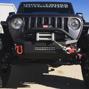 Shop Bumpers By Vehicle - Jeep Wrangler JL - Iron Cross - Iron Cross GP-1202 Stubby Front Bumper with Bar for Jeep Wrangler JL 2018-2020and Jeep Gladiator 2020-2021