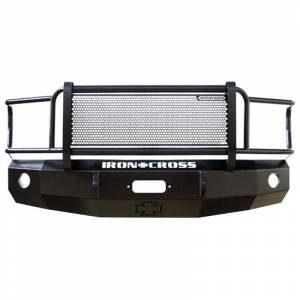 Winch Front Bumper with Full Grille Guard - GMC - Iron Cross - Iron Cross 24-325-11 Winch Front Bumper with Grille Guard for GMC Sierra 2500/3500 2011-2014 - Gloss Black