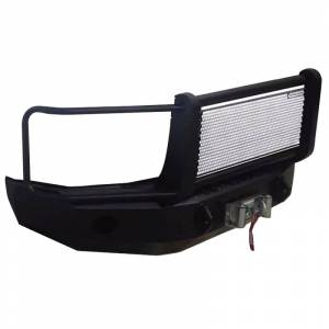 Iron Cross - Iron Cross 24-325-11 Winch Front Bumper with Grille Guard for GMC Sierra 2500/3500 2011-2014 - Gloss Black - Image 2