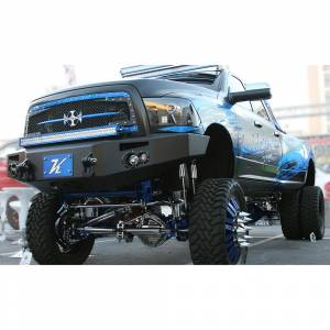 Fab Fours - Fab Fours DR10-A2951-1 Winch Front Bumper for Dodge Ram 2500/3500/4500/5500 2010-2018