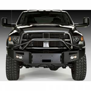 Fab Fours - Fab Fours DR10-A2952-1 Winch Front Bumper with Pre-Runner Guard for Dodge Ram 2500/3500/4500/5500 2010-2018