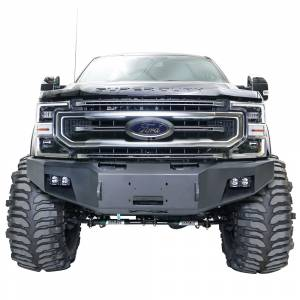 Fab Fours Front Bumper with No Grille Guard - Ford - Fab Fours - Fab Fours FS05-A1251-1 Winch Front Bumper with Sensor Holes for Ford F250/F350/F450/F550 2005-2007