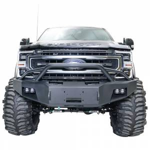 Fab Fours - Fab Fours FS05-A1252-1 Winch Front Bumper with Pre-Runner Guard and Sensor Holes for Ford F250/F350/F450/F550 2005-2007