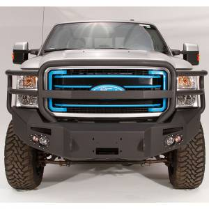 Fab Fours - Fab Fours FS11-A2550-1 Winch Front Bumper with Full Guard and Sensor Holes for Ford F250/F350 2011-2016