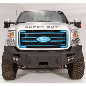 Fab Fours Front Bumper with No Grille Guard - Ford - Fab Fours - Fab Fours FS11-A2551-1 Winch Front Bumper with Sensor Holes for Ford F250/F350 2011-2016