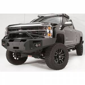 Fab Fours - Fab Fours CH14-C3052-1 Winch Front Bumper with Pre-Runner Guard and Sensor Holes for Chevy Silverado 2500/3500 2015-2019 - Image 2
