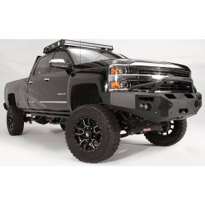 Fab Fours - Fab Fours CH14-C3052-1 Winch Front Bumper with Pre-Runner Guard and Sensor Holes for Chevy Silverado 2500/3500 2015-2019 - Image 3