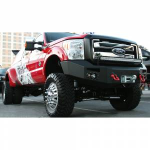 Fab Fours - Fab Fours FS11-A2651-1 Winch Front Bumper with Sensor Holes for Ford F450/F550 2011-2016 - Image 2