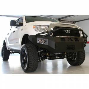 Fab Fours - Fab Fours TT07-H1852-1 Winch Front Bumper with Pre-Runner Guard for Toyota Tundra 2007-2013