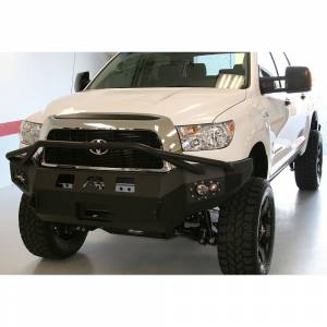 Fab Fours - Fab Fours TT07-H1852-1 Winch Front Bumper with Pre-Runner Guard for Toyota Tundra 2007-2013 - Image 2