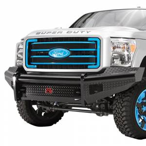 Fab Fours - Fab Fours FS05-S1261-1 Black Steel Front Bumper for Ford F250/F350 2005-2007
