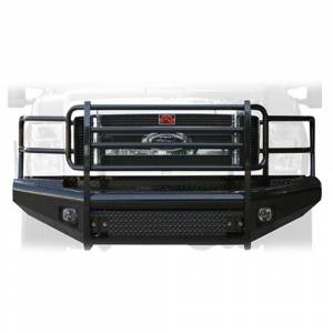 Fab Fours - Fab Fours FS08-S1960-1 Black Steel Front Bumper with Full Grille Guard for Ford F250/F350 2008-2010