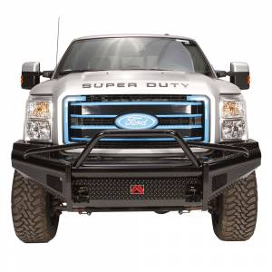 Fab Fours FS11-S2562-1 Black Steel Front Bumper with Pre-Runner Guard for Ford F250/F350/F450/F550 2011-2016