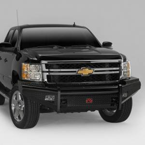 Fab Fours - Fab Fours GM08-S2161-1 Black Steel Front Bumper for GMC Sierra 2500/3500 2007-2010 - Image 2