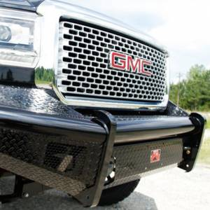Fab Fours - Fab Fours GM08-S2161-1 Black Steel Front Bumper for GMC Sierra 2500/3500 2007-2010 - Image 5