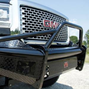 Fab Fours - Fab Fours GM08-S2162-1 Black Steel Front Bumper with Pre-Runner Guard for GMC Sierra 2500/3500 2007-2010 - Image 4