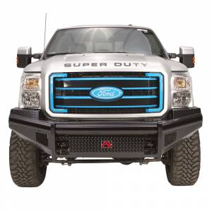 Fab Fours FS11-S2561-1 Black Steel Front Bumper for Ford F250/F350/F450/F550 2011-2016