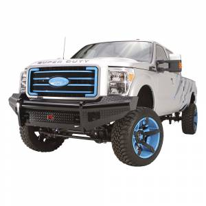 Fab Fours - Fab Fours FS11-S2561-1 Black Steel Front Bumper for Ford F250/F350/F450/F550 2011-2016 - Image 2
