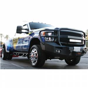 Fab Fours - Fab Fours FS11-A2650-1 Winch Front Bumper with Full Guard and Sensor Holes for Ford F450/F550 2011-2016 - Image 2