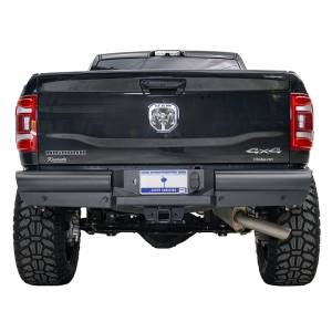 Fab Fours - Fab Fours DR94-U1650-1 Black Steel Elite Smooth Rear Bumper for Dodge Ram 2500/3500 1994-2002 - Image 1