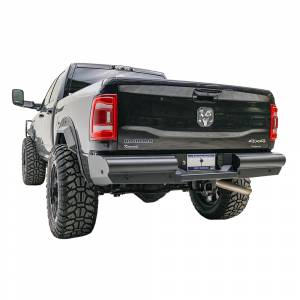 Fab Fours - Fab Fours DR94-U1650-1 Black Steel Elite Smooth Rear Bumper for Dodge Ram 2500/3500 1994-2002 - Image 2