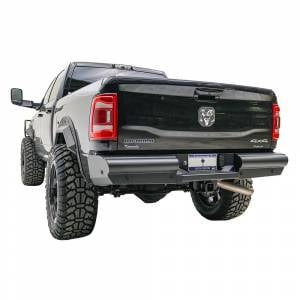 Fab Fours - Fab Fours DR10-U2950-1 Black Steel Elite Smooth Rear Bumper for Dodge Ram 2500/3500 2010-2018 - Image 2