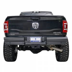 Fab Fours - Fab Fours DR10-U2950-1 Black Steel Elite Smooth Rear Bumper for Dodge Ram 2500/3500 2010-2018 - Image 3