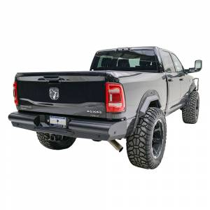 Fab Fours - Fab Fours DR10-U2950-1 Black Steel Elite Smooth Rear Bumper for Dodge Ram 2500/3500 2010-2018 - Image 4