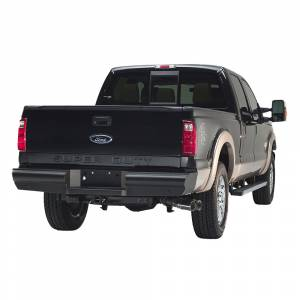 Fab Fours - Fab Fours FS08-U1350-1 Black Steel Elite Smooth Rear Bumper for Ford F250/F350 1999-2016 - Image 2