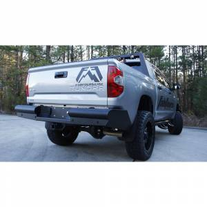 Fab Fours - Fab Fours TT07-U1550-1 Black Steel Elite Smooth Rear Bumper for Toyota Tundra 2007-2013 - Image 2