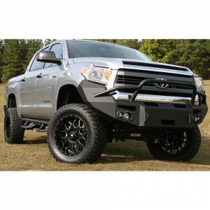 Fab Fours - Fab Fours TT14-H2852-1 Winch Front Bumper with Pre-Runner Guard for Toyota Tundra 2014-2019 - Image 2