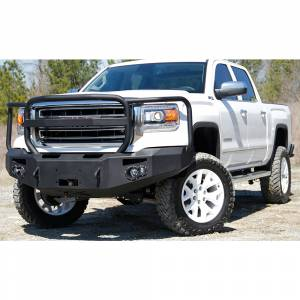 Fab Fours - Fab Fours GS14-H3150-1 Winch Front Bumper with Full Guard for GMC Sierra 1500 2014-2015 - Image 3