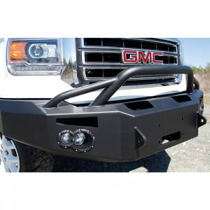 Fab Fours - Fab Fours GS14-H3152-1 Winch Front Bumper with Pre-Runner Guard for GMC Sierra 1500 2014-2015