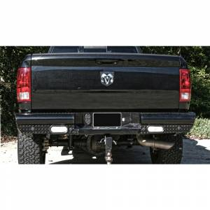 Fab Fours Black Steel - Rear Bumpers - Fab Fours - Fab Fours DR10-T2950-1 Black Steel Rear Bumper for Dodge Ram 2500/3500 2010-2018
