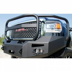 Fab Fours - Fab Fours GM14-C3150-1 Winch Front Bumper with Full Guard and Sensor Holes for GMC Sierra 2500/3500 2015-2019 - Image 4
