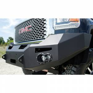 Fab Fours - Fab Fours GM14-C3151-1 Winch Front Bumper with Sensor Holes for GMC Sierra 2500/3500 2015-2019 - Image 3