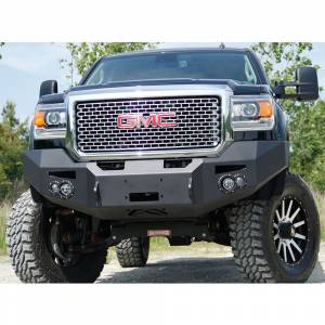 Fab Fours - Fab Fours GM14-C3151-1 Winch Front Bumper with Sensor Holes for GMC Sierra 2500/3500 2015-2019 - Image 4