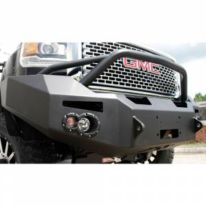 Fab Fours - Fab Fours GM14-C3152-1 Winch Front Bumper with Pre-Runner Guard and Sensor Holes for GMC Sierra 2500/3500 2015-2019 - Image 3