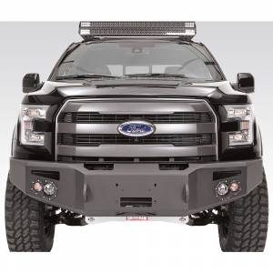 Shop Bumpers By Vehicle - Ford F150 Eco-Boost - Fab Fours - Fab Fours FF15-H3251-1 Winch Front Bumper for Ford F150 2015-2017