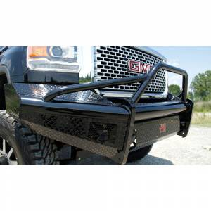 Fab Fours - Fab Fours GM14-S3162-1 Black Steel Front Bumper with Pre-Runner Guard for GMC Sierra 2500/3500 2015-2019 - Image 2