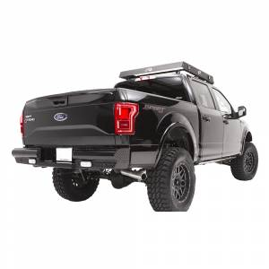 Fab Fours - Fab Fours FF15-T3250-1 Black Steel Rear Bumper with Sensor Holes for Ford F150 2015-2019 - Image 2
