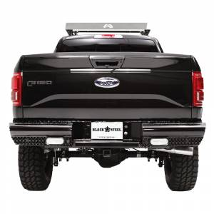 Fab Fours - Fab Fours FF15-T3250-1 Black Steel Rear Bumper with Sensor Holes for Ford F150 2015-2019 - Image 3