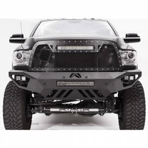 Dodge Ram 2500/3500 - Dodge RAM 2500/3500 2010-2018 Old Body - Fab Fours - Fab Fours DR10-V2951-1 Vengeance Front Bumper with Sensor Holes for Dodge Ram 2500/3500/4500/5500 2010-2018
