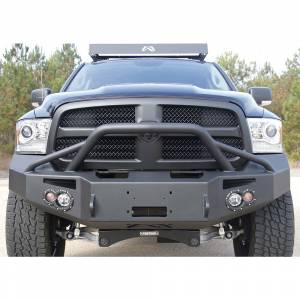 Fab Fours - Fab Fours DR13-H2952-1 Winch Front Bumper with Pre-Runner Guard for Dodge Ram 1500 2013-2018 - Image 2
