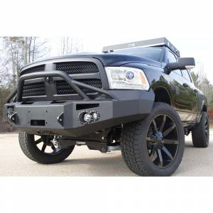 Fab Fours - Fab Fours DR13-H2952-1 Winch Front Bumper with Pre-Runner Guard for Dodge Ram 1500 2013-2018 - Image 3
