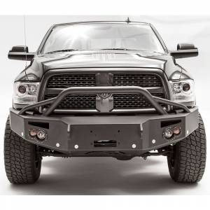 Dodge Ram 2500/3500 - Dodge RAM 2500/3500 2010-2018 Old Body - Fab Fours - Fab Fours DR16-C4052-1 Winch Front Bumper with Pre-Runner Bar and Sensor Holes for Dodge Ram 2500/3500/4500/5500 2016-2018