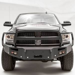 Dodge Ram 2500/3500 - Dodge RAM 2500/3500 2010-2018 Old Body - Fab Fours - Fab Fours DR16-C4050-1 Winch Front Bumper with Full Guard and Sensor Holes for Dodge Ram 2500/3500/4500/5500 2016-2018