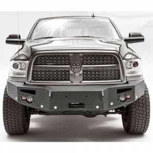 Dodge Ram 2500/3500 - Dodge RAM 2500/3500 2010-2018 Old Body - Fab Fours - Fab Fours DR16-C4051-1 Winch Front Bumper with Sensor Holes for Dodge Ram 2500/3500/4500/5500 2016-2018